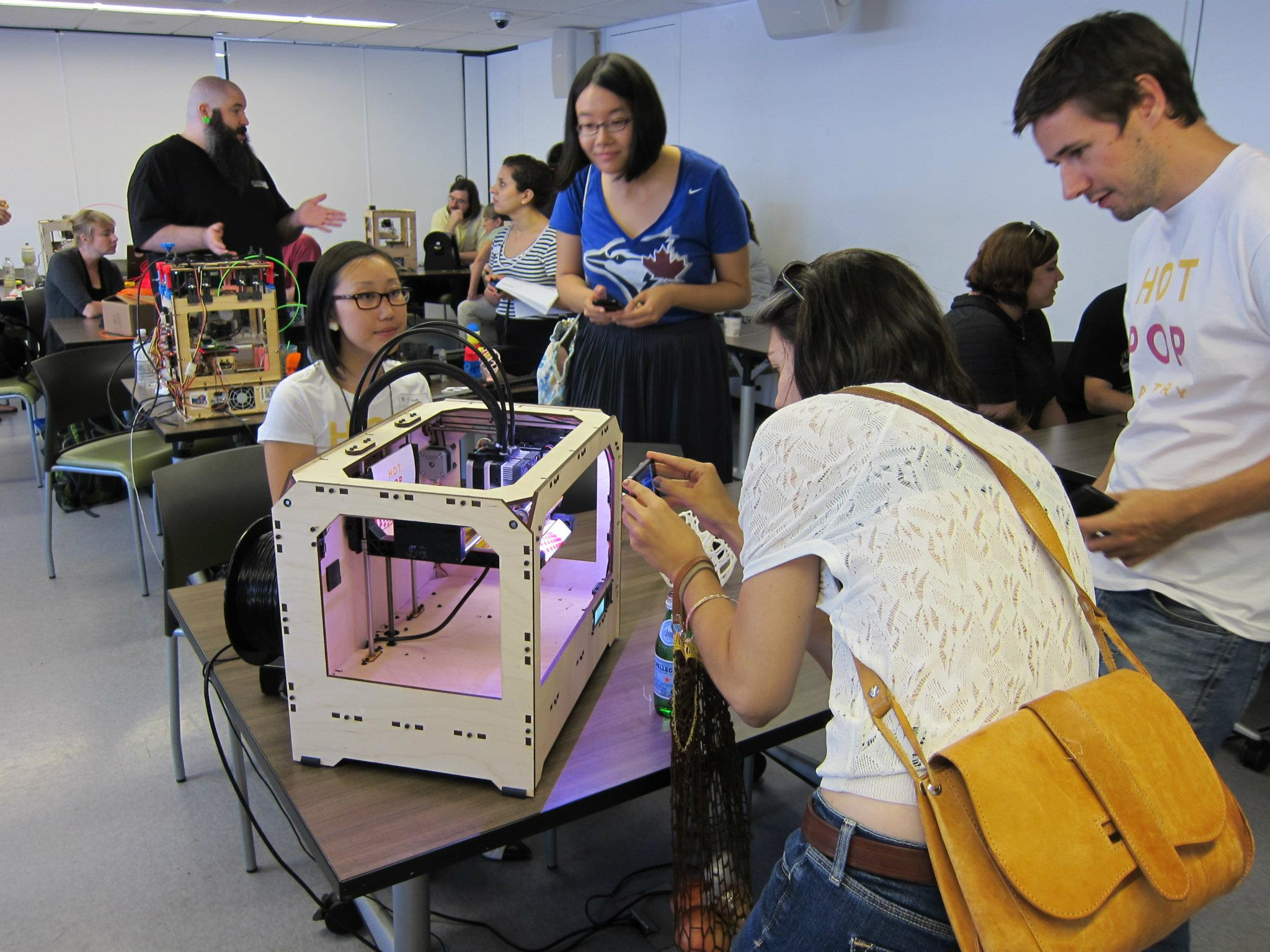 Ladies Learning 3d Printing Emergent Forms Matthew
